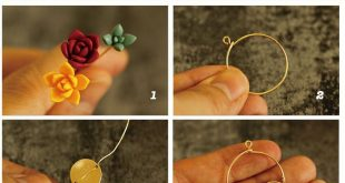 How to Make Autumn Theme Polymer Clay Succulent Earrings
