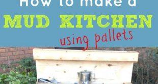 Katie erzählt, wie man mit Paletten eine Küche aus Ton für die Kinder herstellt! #diykids #makes #katie #children
