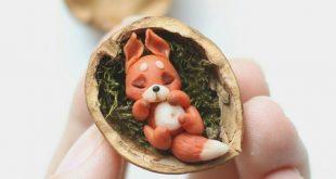 Kleiner Eichhörnchen-Fimo kleiner Fuchs #eichhornchen #fuchs #kleiner #buddy