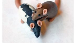 Little Love Dime Rats made of #polymer #clay (i gotta make a little charm like t...