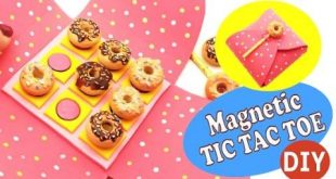 Magnetic TIC TAC TOE- DIY- Polymer clay/ EVA Foam tutorial