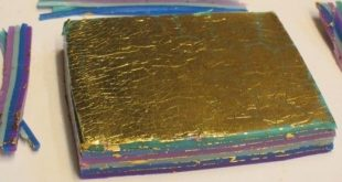 Make Gemstone-Like Polymer Clay Mokume Gane Cabochons for Jewelry