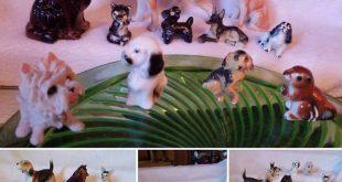 Miniatures 9 Dogs 1 Squirrel 1Panda Bear Large CollieBeagle Chihuahua; 9 are Bon...