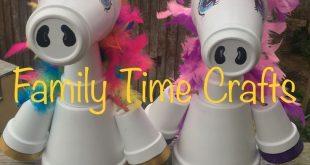 Süße magische Tontopf Einhörner von Family Time Crafts. Folge uns auf Faceboo...