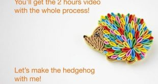 Video TUTORIAL Hedgehog brooch of AIR DRY polymer clay With English subtitles Polymer quilling technique Suitable for beginners Download