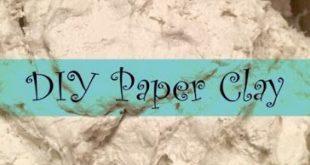 Wie man seinen eigenen Papierlehm macht