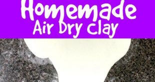 With this Air Dry Clay recipe, you can make your own Air Dry clay at home for so...