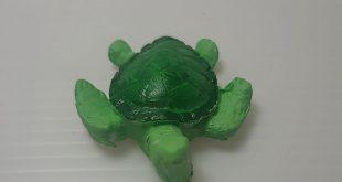green turtle porcelain air dry clay DIY decoration scrapbook, jewelry, stuff handmade supply