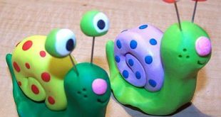 new clay critters - mini snail and junior snail