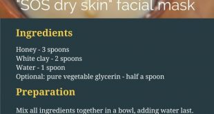 sos dry skin facial mask with honey and white kaolin clay DIY recipe